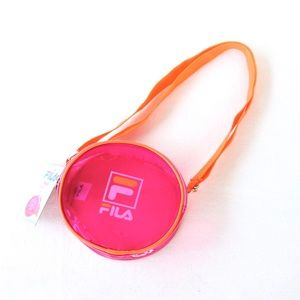 "Fila Neon Pink & Orange ""Prue"" Shoulder Bag"